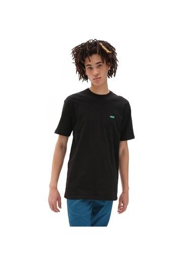 Vans Left Chest Logo Erkek Kısa Kol T-Shirt Siyah